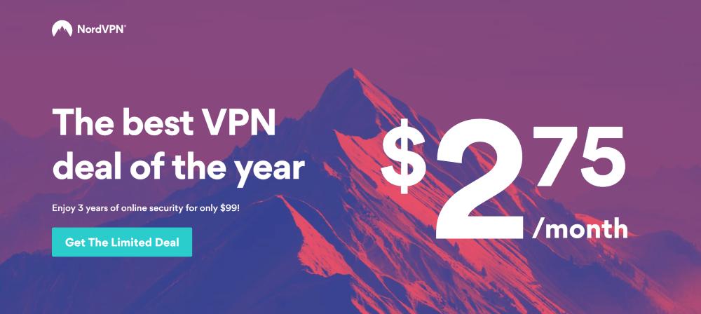 NordVPN 3 Jahres Deal für 2,75 dollar